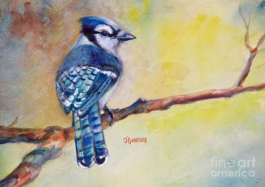Bluejay Painting - Bluebird by Joyce A Guariglia