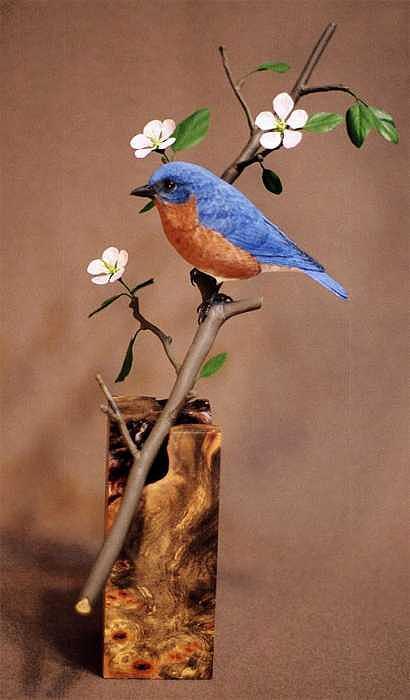 Bluebird Sculpture - Bluebird of Paradise by Marc  Barger