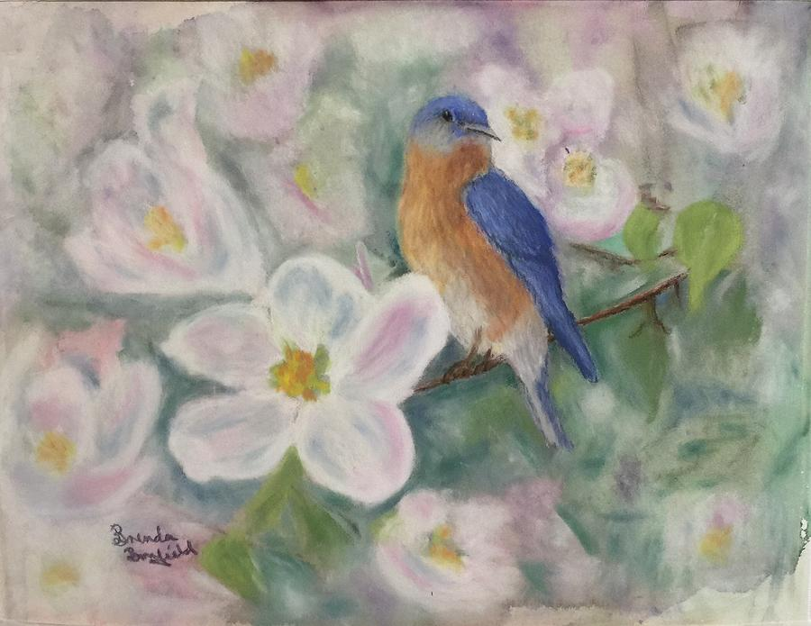 Bluebird Vignette by Brenda Bonfield