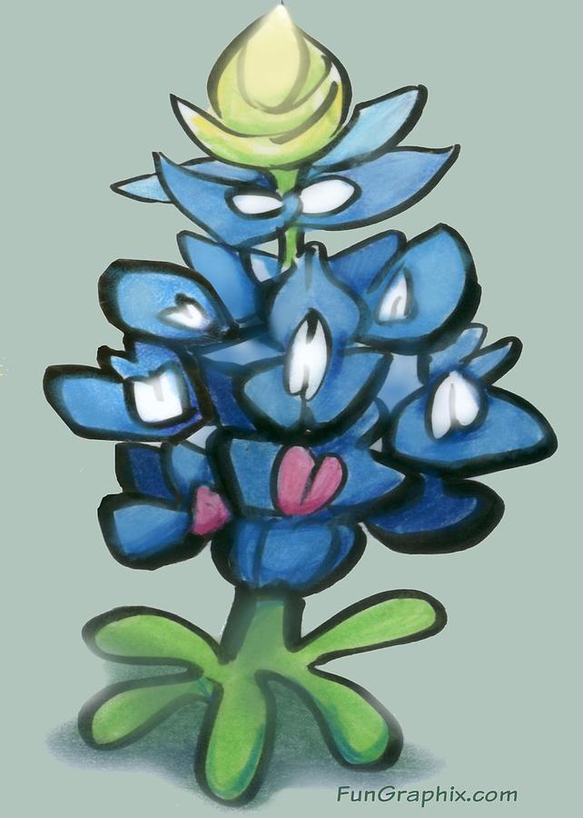 Bluebonnet Digital Art - Bluebonnet by Kevin Middleton