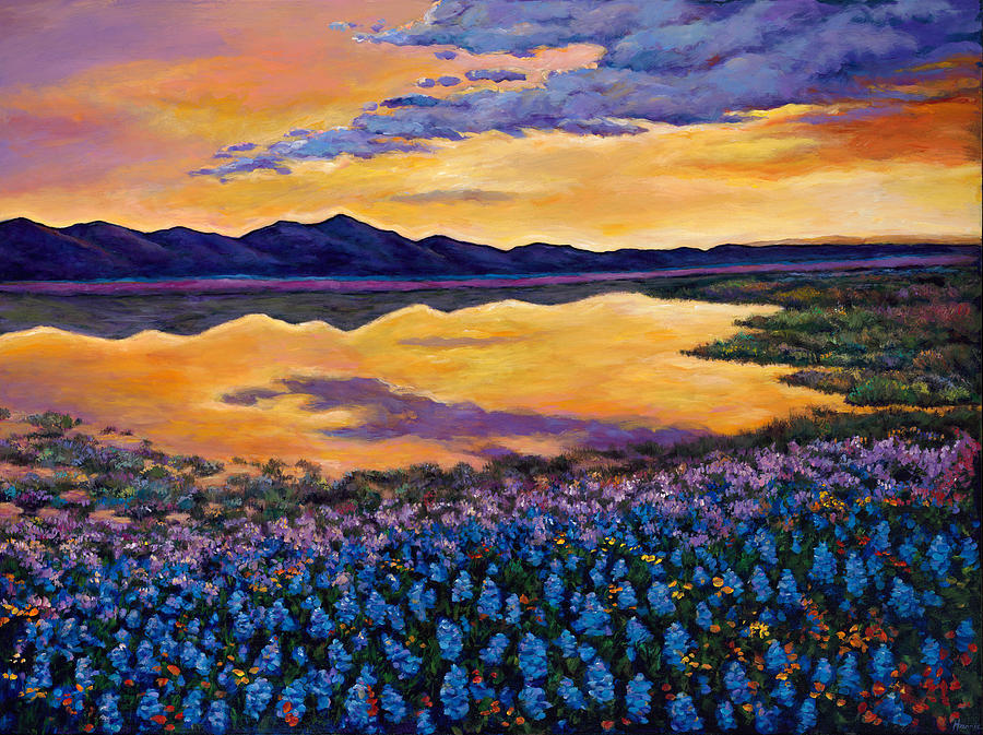 Southwestern Landscape Painting - Bluebonnet Rhapsody by Johnathan Harris