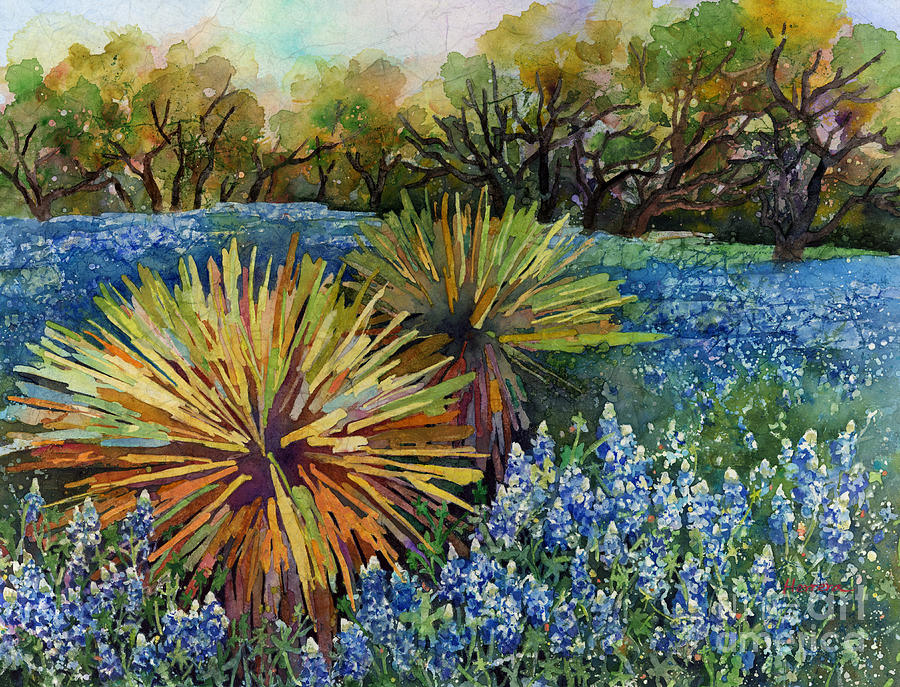 Bluebonnets and Yucca by Hailey E Herrera
