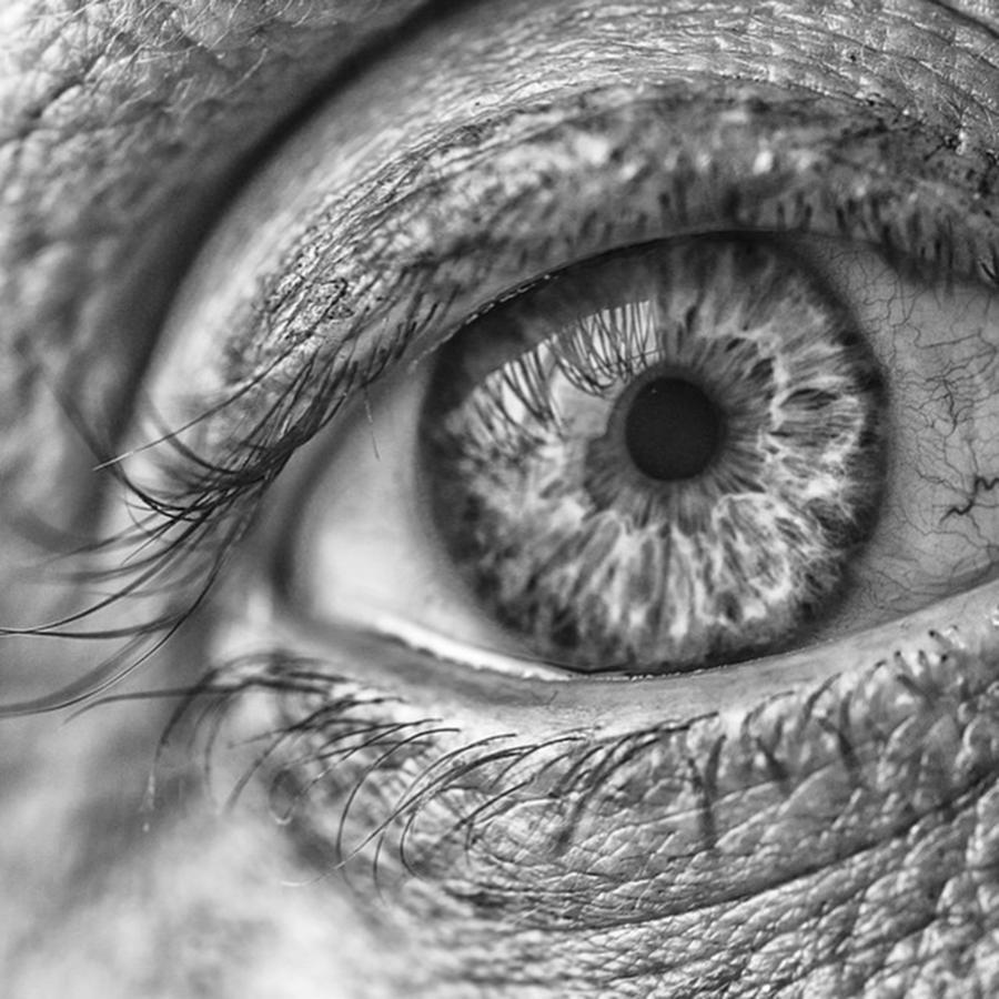 Eyes Photograph - #blueeyes #blue #eyes #pupil #cornea by David Haskett II