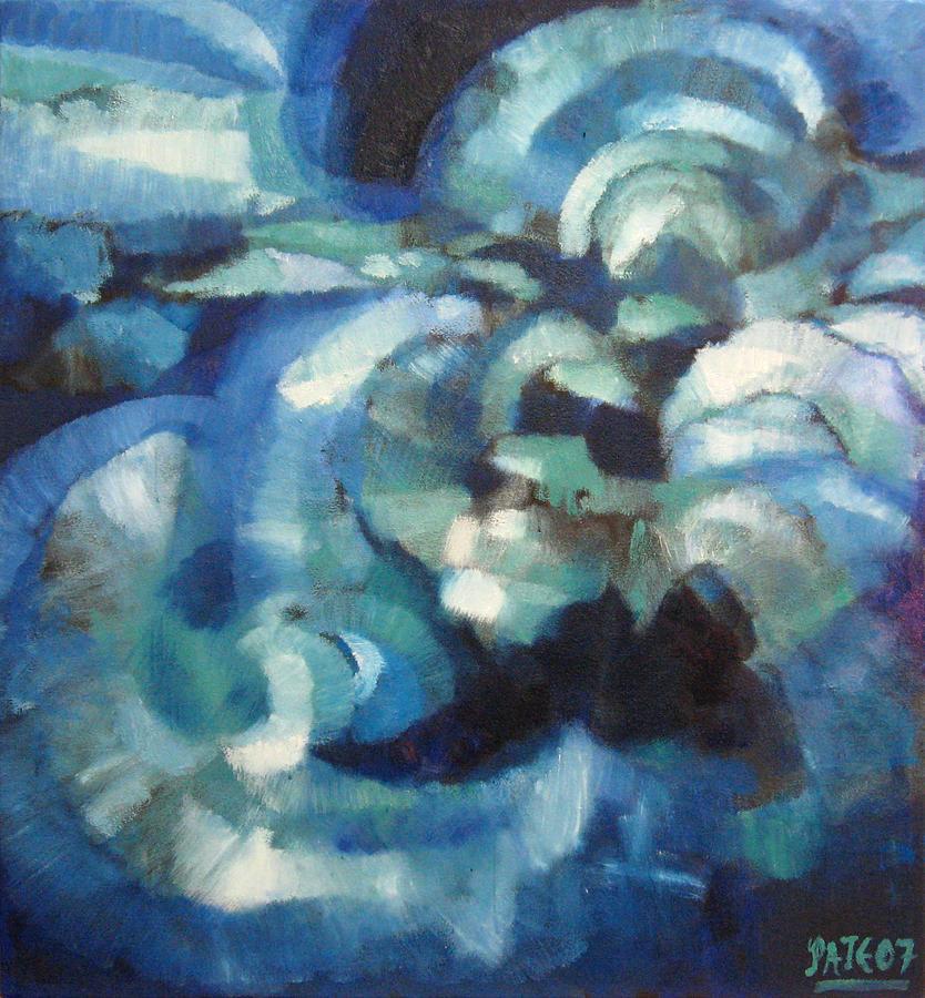 Blueimprov1 Painting by Dan Pate