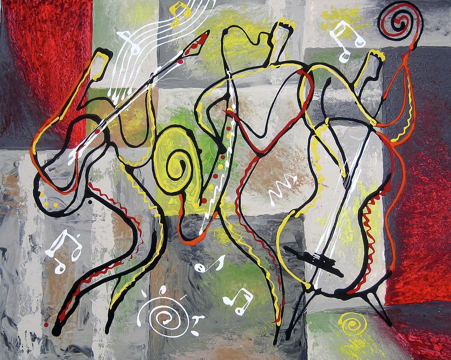 Jazz Painting - Blues And Rock by Leon Zernitsky