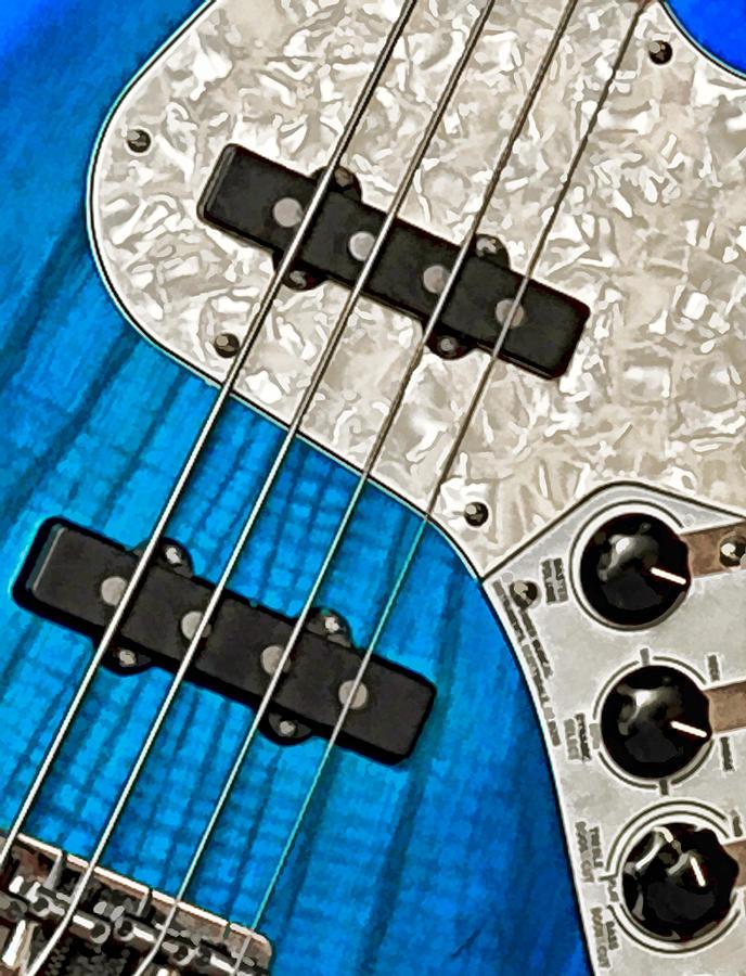 Guitar Photograph - Blues Bass by William Jobes