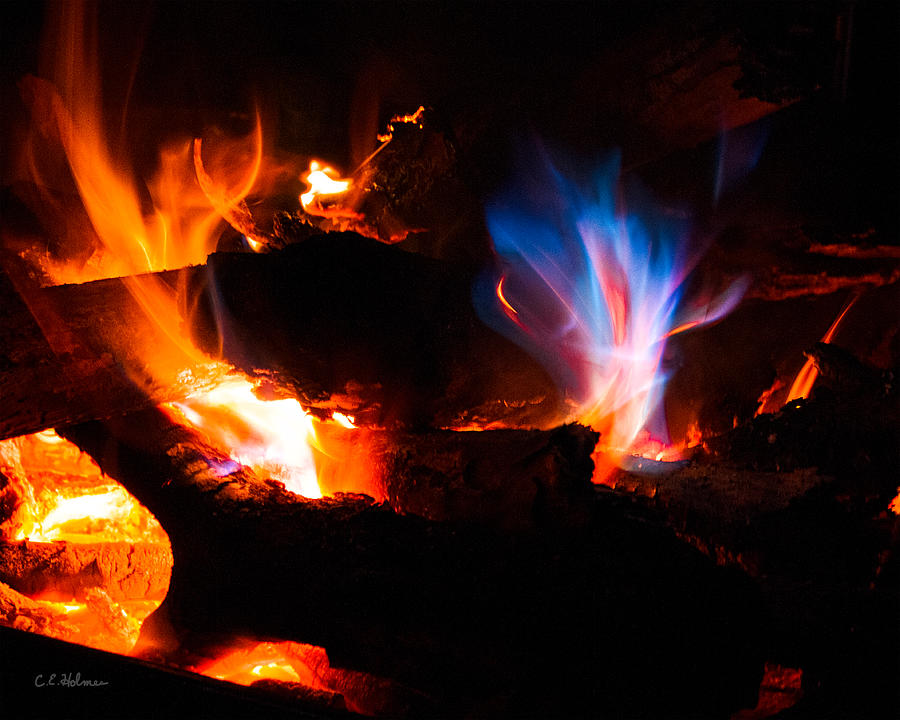 Fire Photograph - Blues Dance by Christopher Holmes