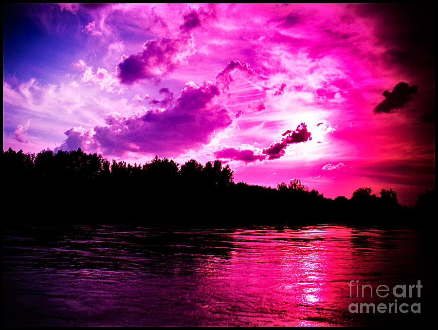 Blues Photograph - Blues For The Red Sky by Tina Zaknic - Xignich Photography
