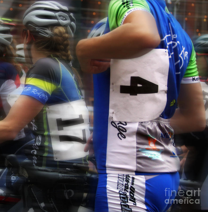 Bicycle Photograph - Blues Four by Steven Digman