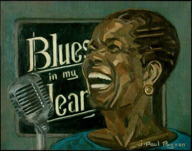 Blues In My Heart Painting by Jean-paul PAGNON