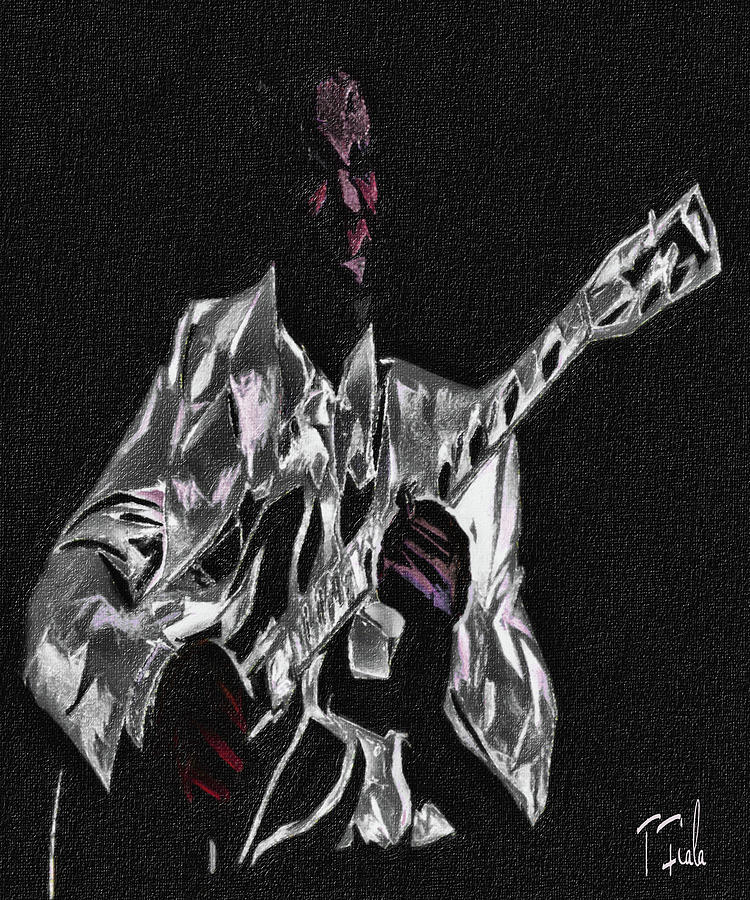 Music Digital Art - Blues In Silver by Terry Fiala