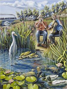 Blues Music Painting - Blues Menagerie by Brett Caplinger