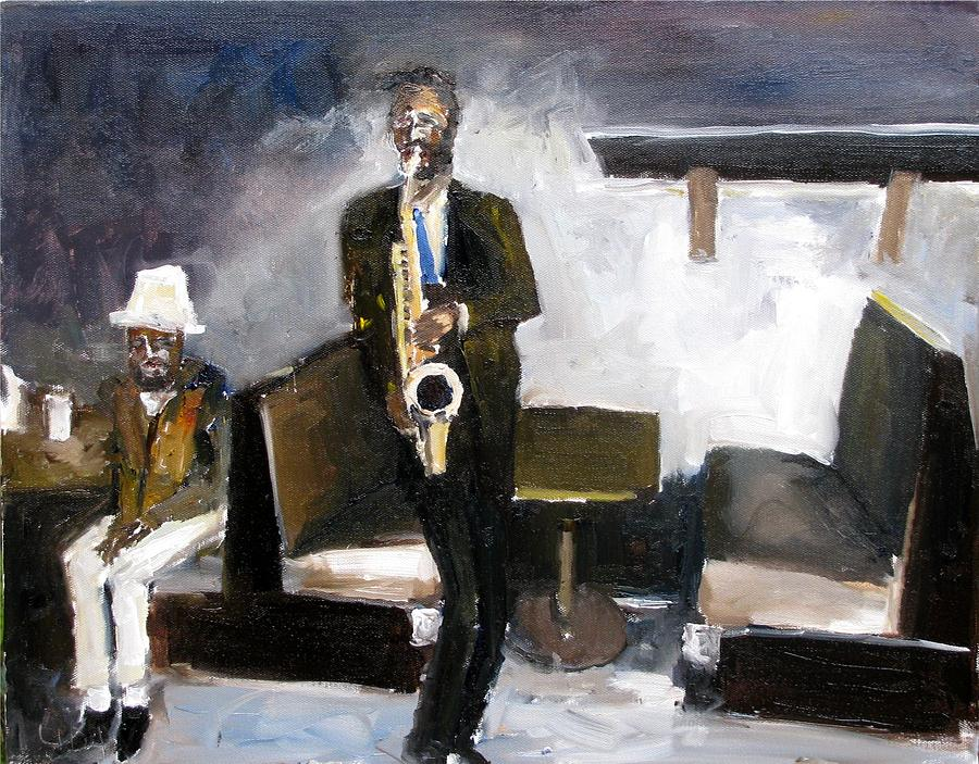 Blues Night Painting by Udi Peled