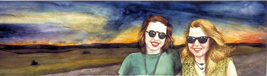 Wyoming Painting - Blues Sisters by Nancy  Ethiel