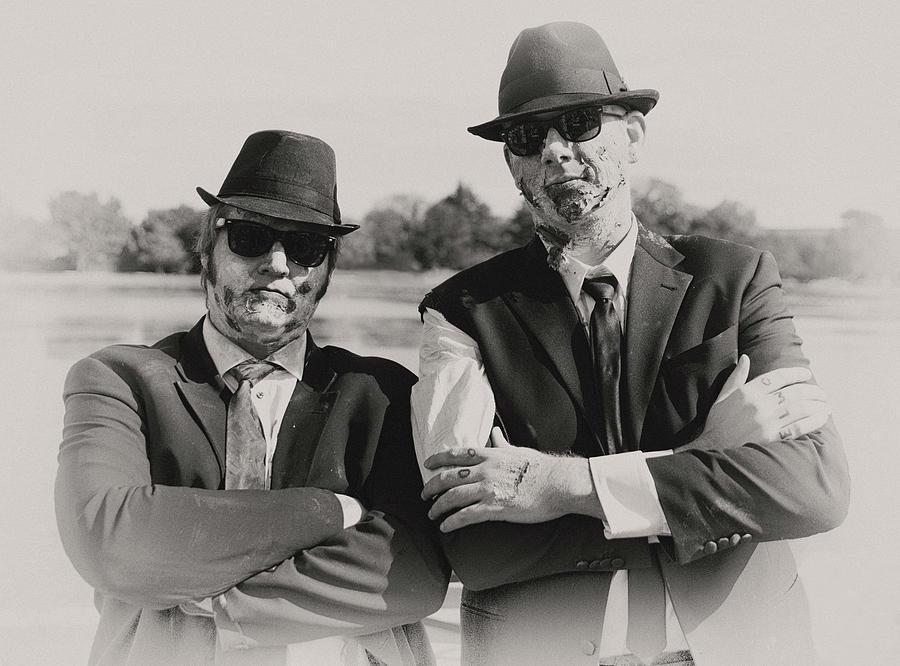 Zombie Walk Photograph - Blues Walkers by Art Cole
