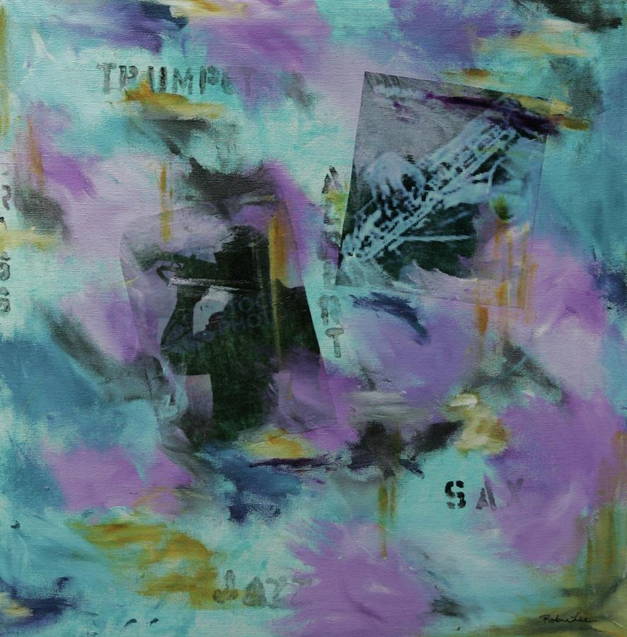 Trumpet Mixed Media - Bluesy Jazz by Robin Lee