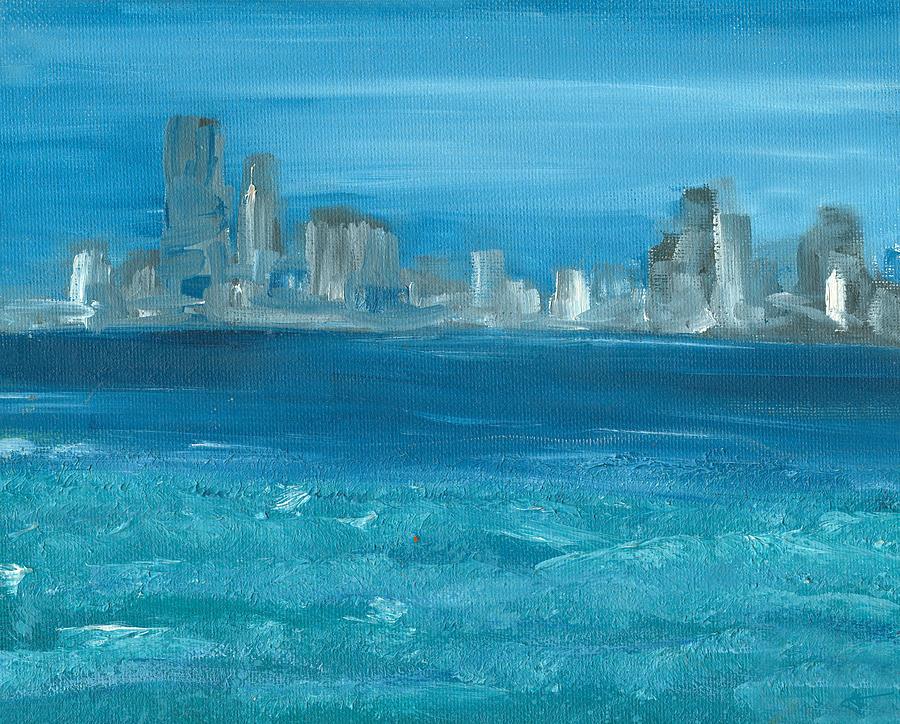Seascape Painting - Bluesy by Jorge Delara