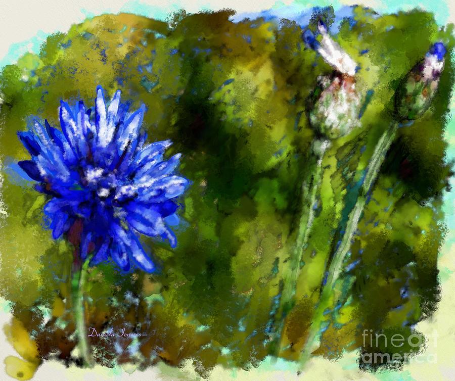 Paintings Painting - Bluet by Daniela Ionesco