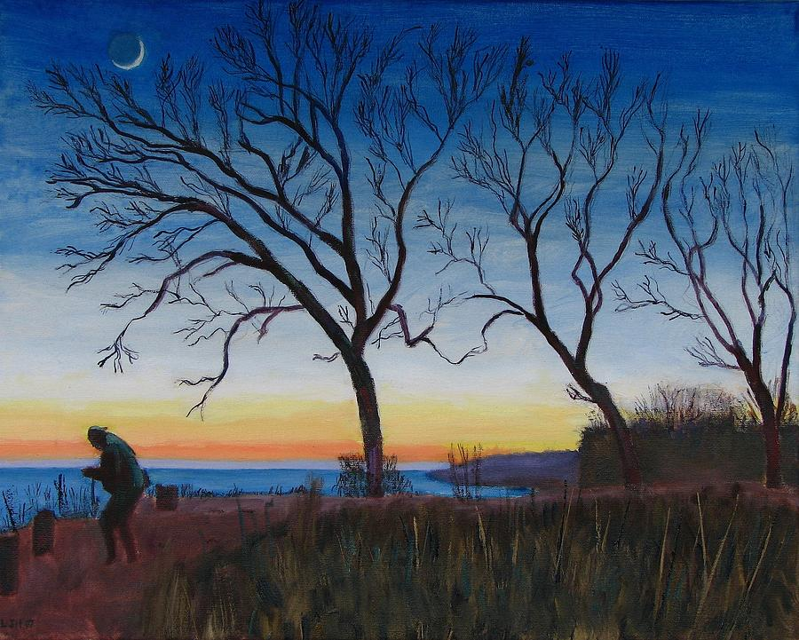 Landscape Painting - Bluff Moon by Larry Herscovitch
