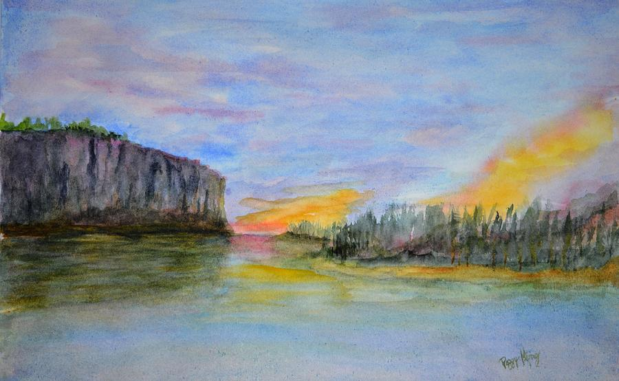 Bluffs at Sunset by Peggy King