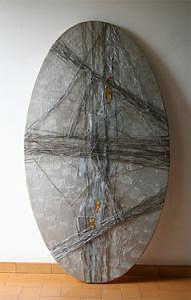 Blugelosia-on Steel Mixed Media by Pietro Bellani