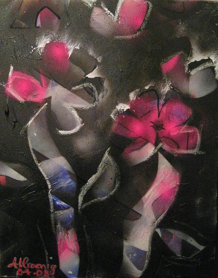 Blumen Aus Berlin Painting by Andrea Noel Kroenig