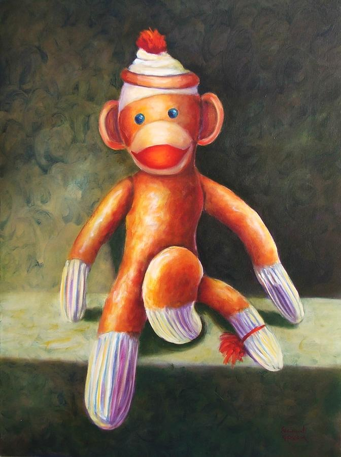 Sock Monkey Painting - Blur by Shannon Grissom