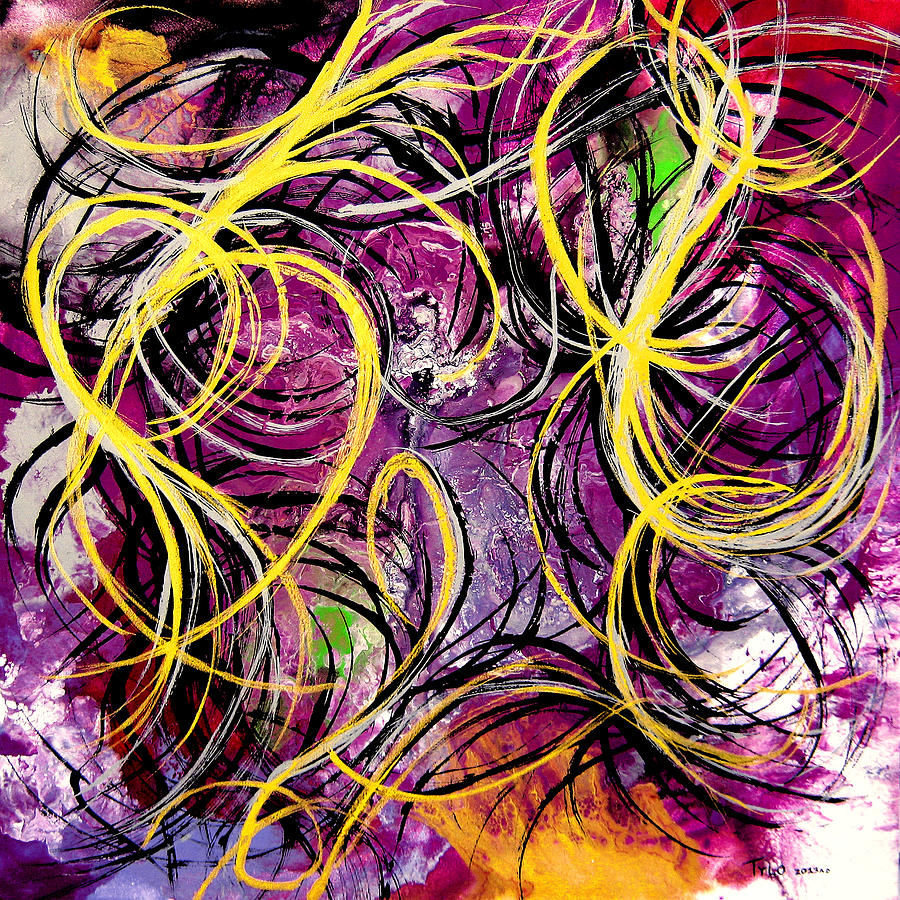 Contemporary Abstract Painting - Blurred Lines by Tylo Jacobs