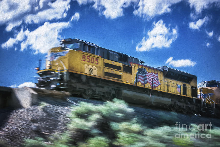 Clouds Photograph - Blurred Rails by Bitter Buffalo Photography