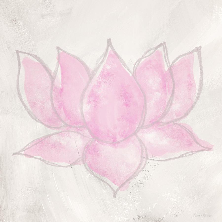 Pink Mixed Media - Blush Lotus- Art By Linda Woods by Linda Woods