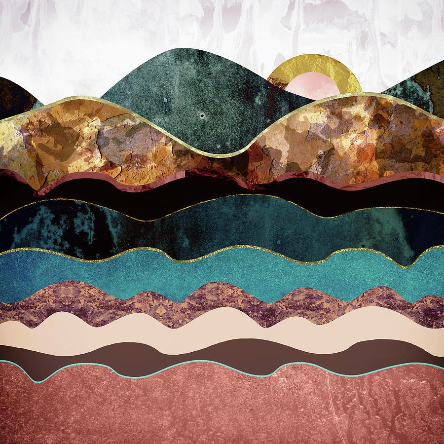 Moon Digital Art - Blush Moon by Katherine Smit