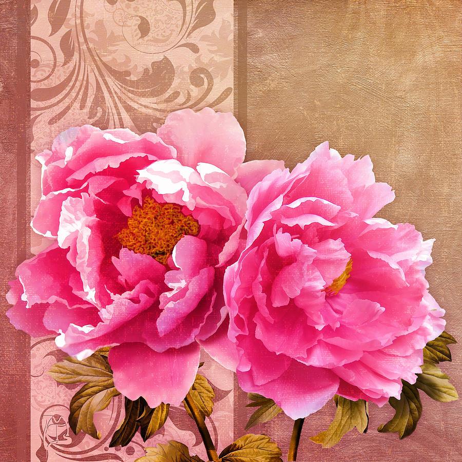 Blush sunlit magenta pink peony flowers floral art painting by painterly painting blush sunlit magenta pink peony flowers floral art by tina lavoie dhlflorist Images