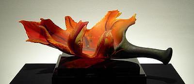 Blown Glass Glass Art - Blushed Maple by Randy Walker
