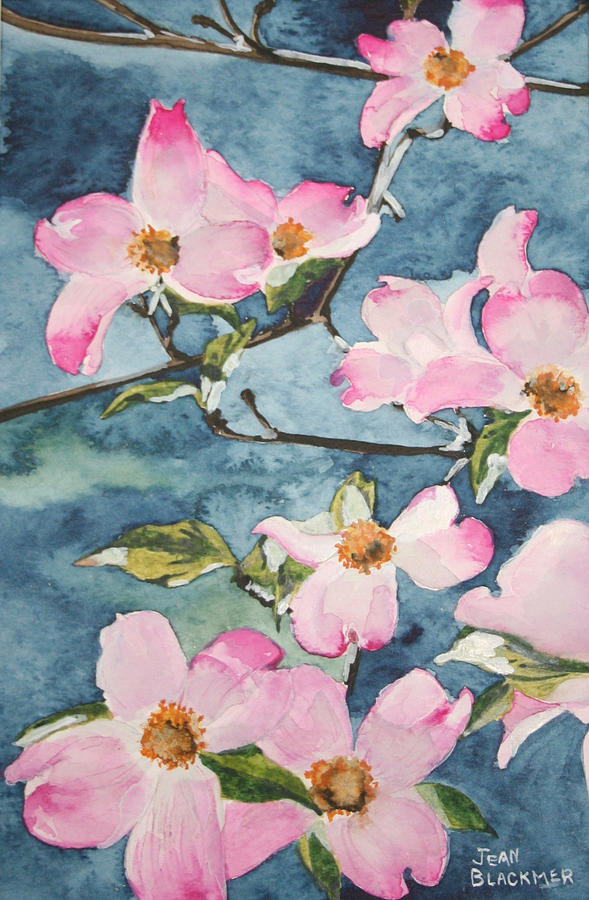 Flowers Painting - Blushing Prettily by Jean Blackmer