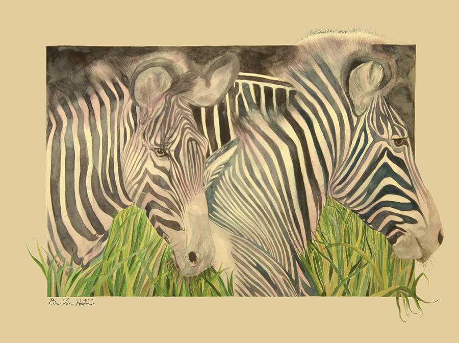 Zebra Blushing Stripes by Dee Van Houten