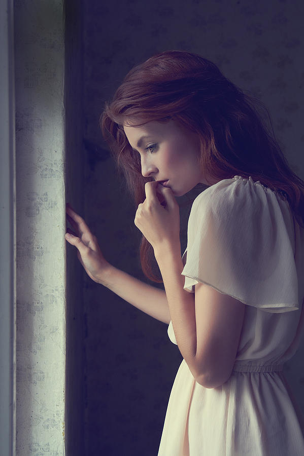 Portrait Photograph - Blushing by Sylwester Zacheja