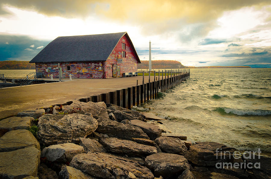 Door County Photograph - Blustery Day At Anderson Barn by Ever-Curious Photography