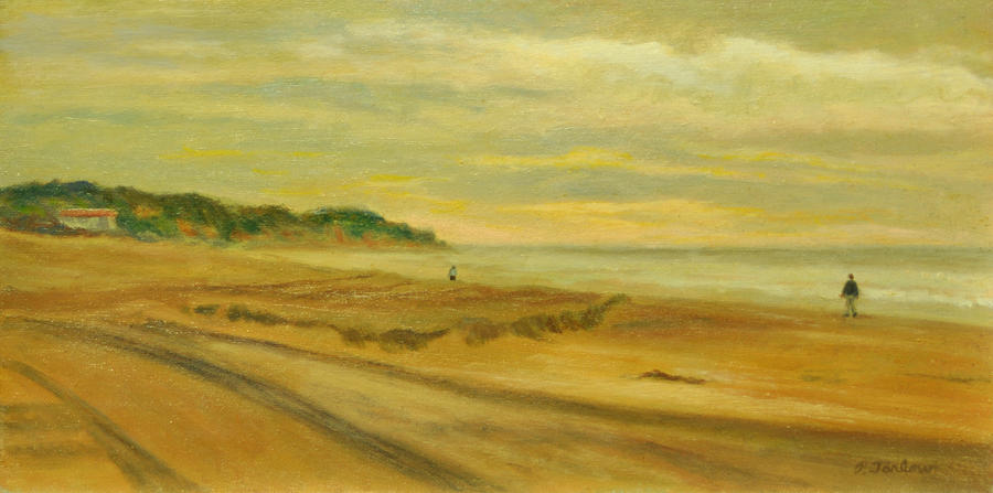 Oil Painting Painting - Blustery Day Zuma Beach by Phyllis Tarlow