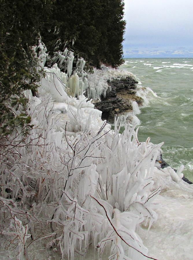 Blustery Lake Michigan Day by Greta Larson Photography