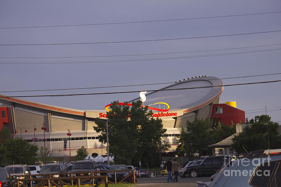 Saddledome Photograph - Bmo Parking Royal Event by Donna Munro