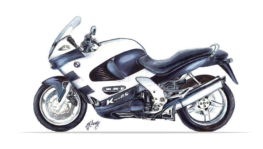 Bmw 1200rs Motorcycle Drawing by Terence John Cleary