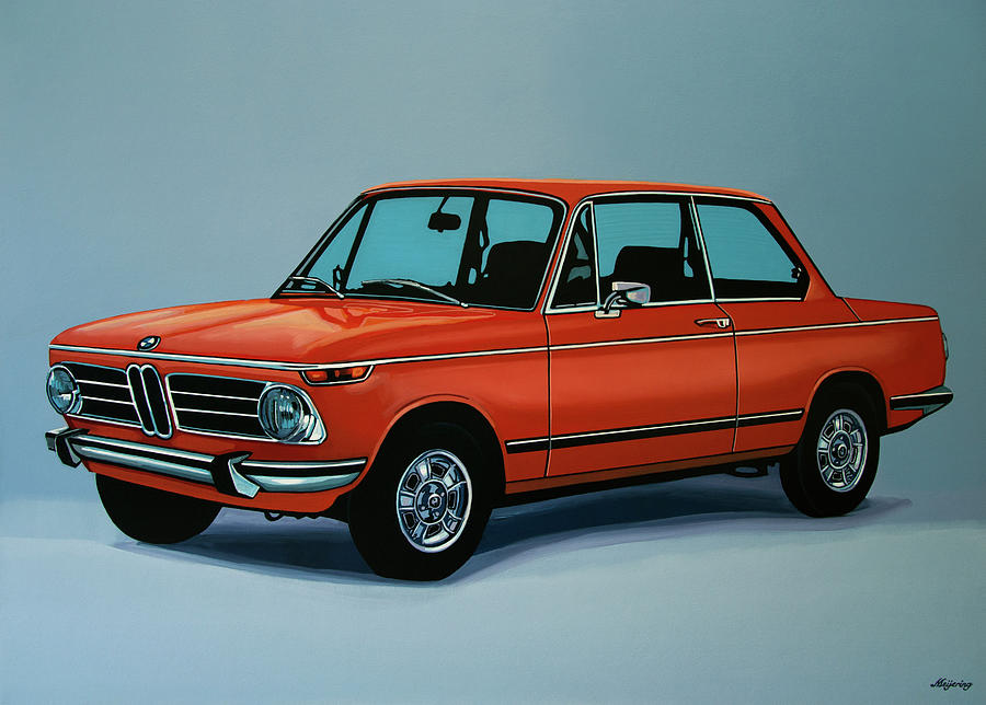 Bmw 2002 1968 Painting Painting by Paul Meijering