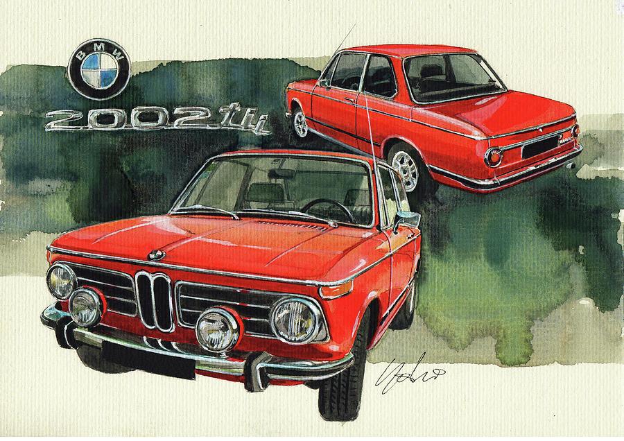 BMW 2002 tii Painting by Yoshiharu Miyakawa