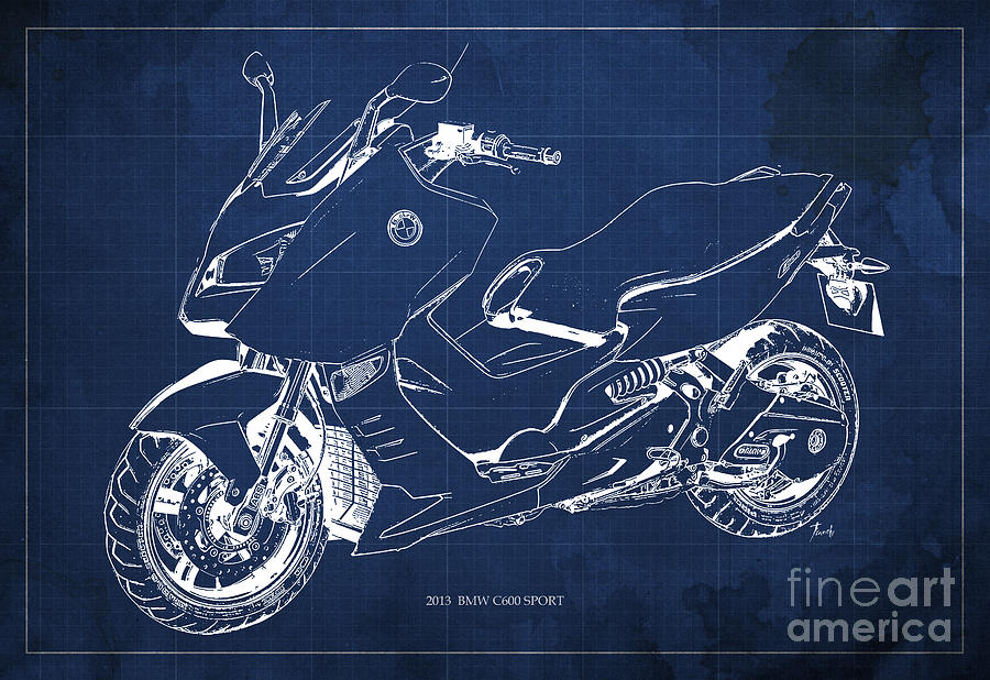 Bmw c600 sport 2013 blueprint blue and white art print digital art bmw c600 digital art bmw c600 sport 2013 blueprint blue and white art malvernweather Choice Image