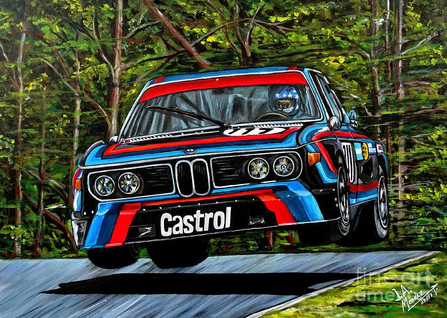 Nurburgring Painting - Bmw cls 3.0 by Jose Mendez