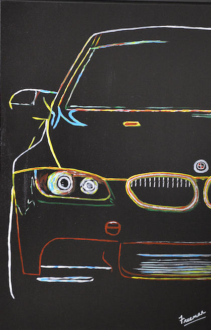 Car Painting - Bmw E92 Lines by D Freeman
