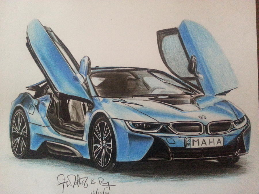 Bmw I8 Drawing By Timothy Raj