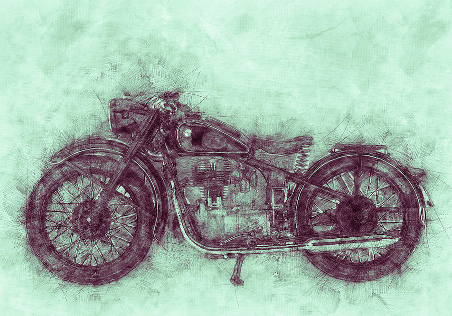 Bmw R32 - 1919 - Motorcycle Poster 3 - Automotive Art Mixed Media