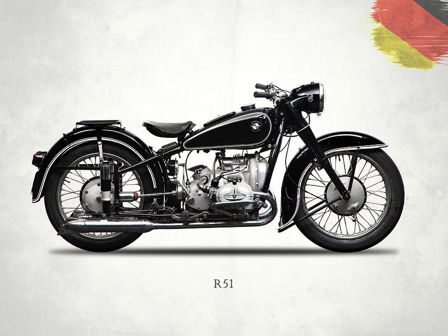 Bmw Photograph - The R51 Motorcycle by Mark Rogan