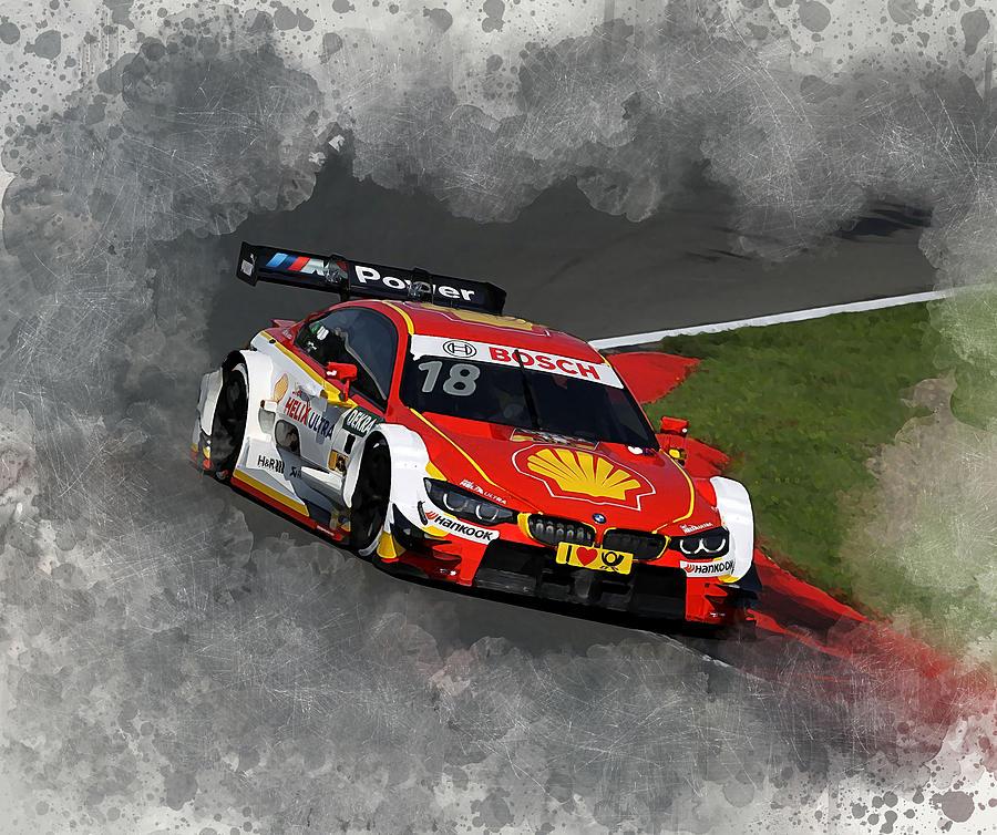 Bmw Digital Art - B M W Racing by Karl Knox Images